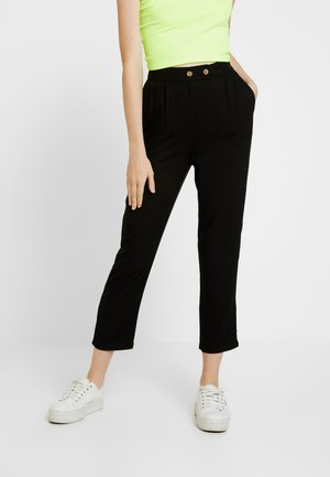 AVA TAPERED PANT - Tygbyxor - black