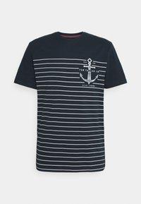 TOM TAILOR - PRINTED HARBOUR STRIPE - Print T-shirt - dark blue - 5