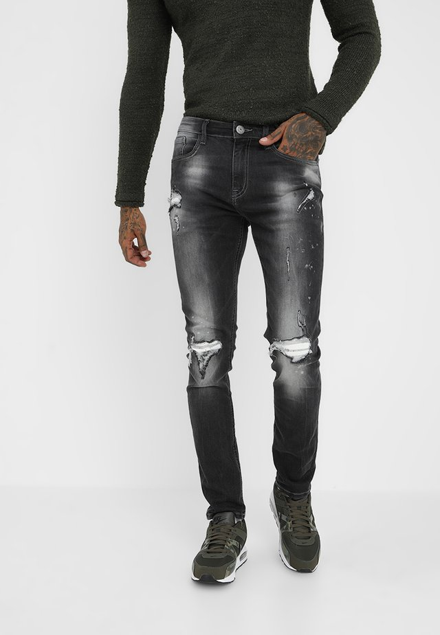 MILANO DESTROY - Slim fit jeans - distressed grey