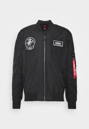 GLOW IN THE DARK - Giubbotto Bomber - black