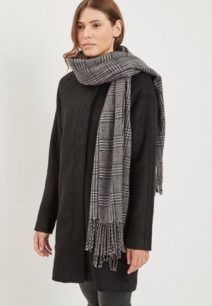 OBJMARILYN CHECK SCARF - Szal - medium grey melange