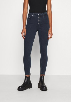 HIGH RISE SUPER SKINNY - Jeansy Skinny Fit - dark blue denim