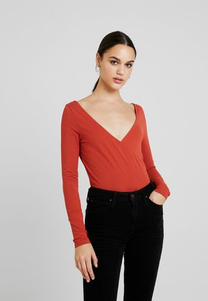 BODYSUIT - Long sleeved top - rust