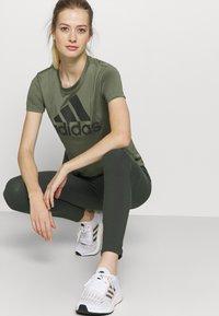 adidas Performance - Leggings - khaki - 3