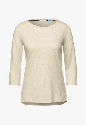 MIT NIETEN DETAILS - Long sleeved top - beige