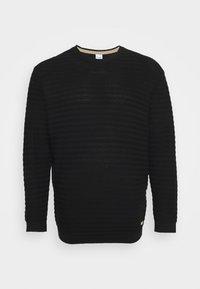 Jack & Jones - JORMIKE CREW NECK - Stickad tröja - black - 0