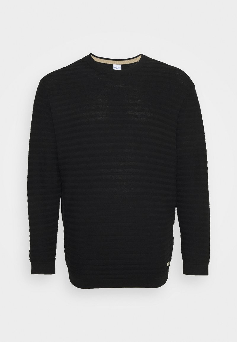 Jack & Jones - JORMIKE CREW NECK - Stickad tröja - black