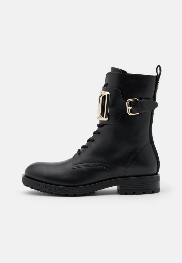 DAILY - Lace-up ankle boots - black