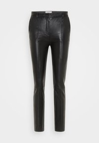 Victoria Victoria Beckham - STRAIGHT LEG TROUSER - Skindbukser - black - 6