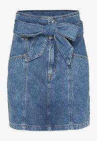 Tommy Jeans - NEW PAPERBAG MOM - Denim skirt - blue denim - 2