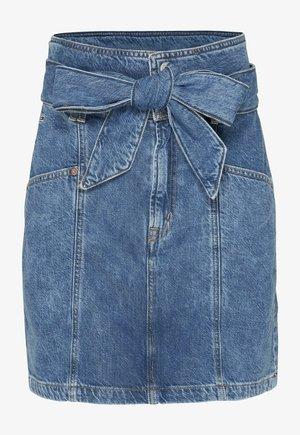 NEW PAPERBAG MOM - Denim skirt - blue denim