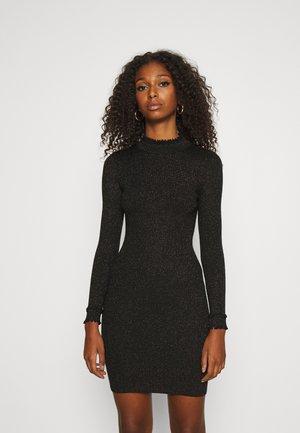 ASHLEE - Strikket kjole - black