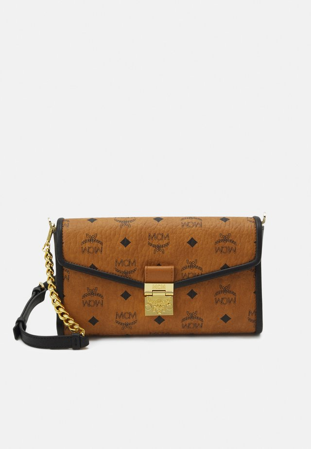 MILLIE VISETOS BLOCK - Across body bag - cognac