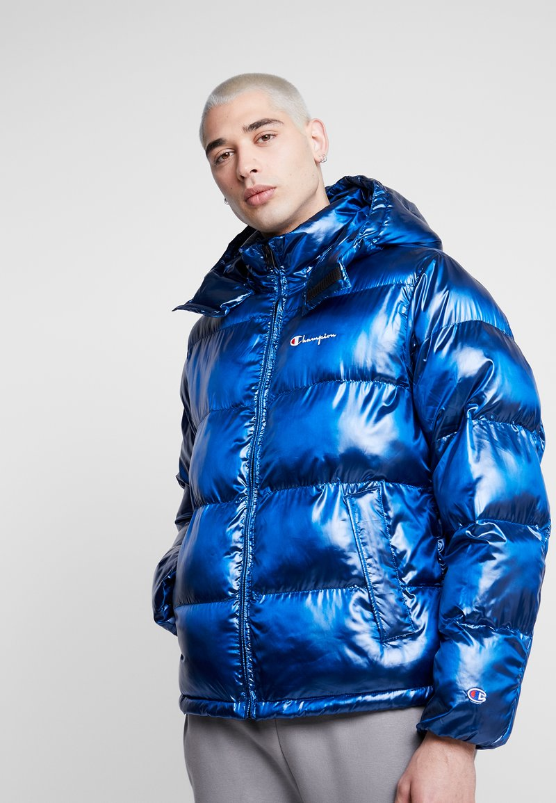 Champion Reverse Weave - HOODED PUFF JACKET - Winterjas - blue