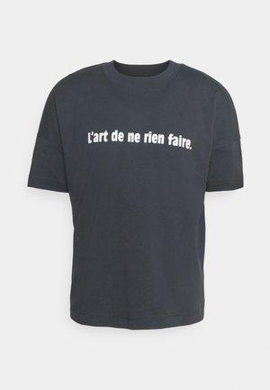 L'ART DE NE RIEN FAIRE UNISEX - Print T-shirt - india ink grey