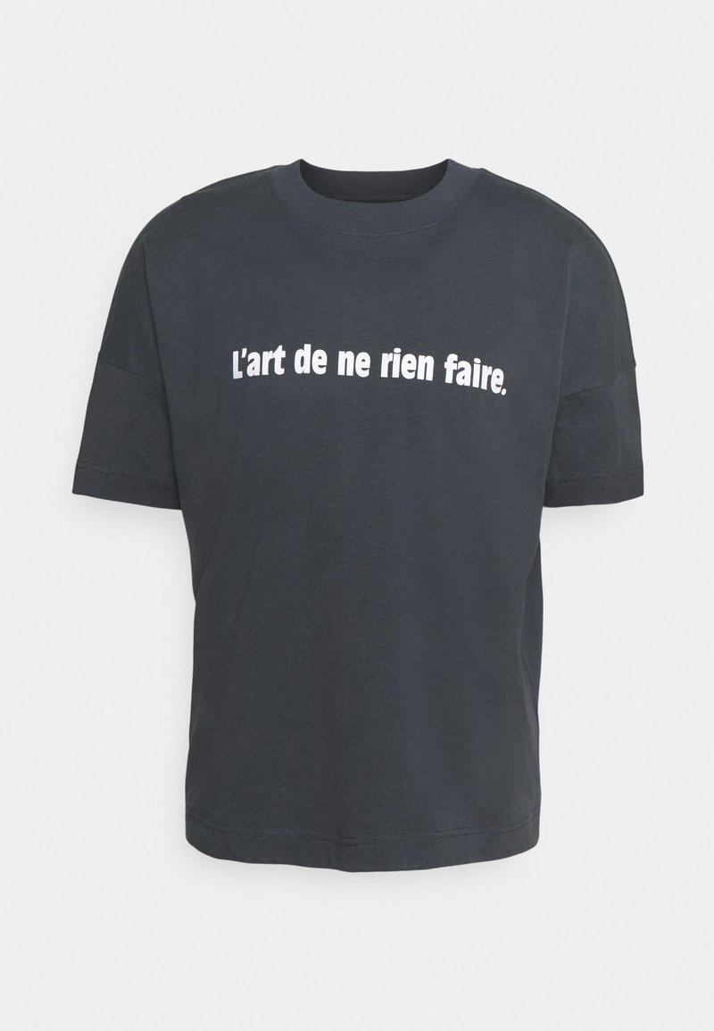 Les Petits Basics - L'ART DE NE RIEN FAIRE UNISEX - T-shirt con stampa - india ink grey