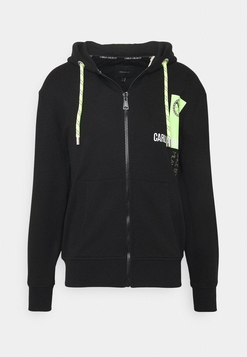 Carlo Colucci - HOODY ZIP - Zip-up hoodie - black