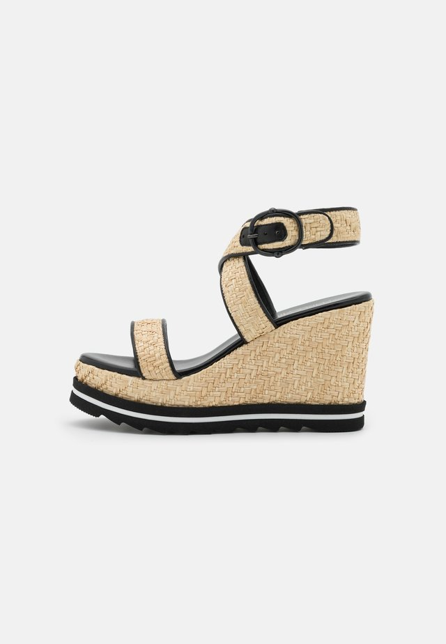 WEDGES - Sandali con plateau - black