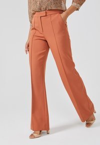 Aaiko - CHANTALLE TWILL VIS 345 - Trousers - toulouse brick - 0