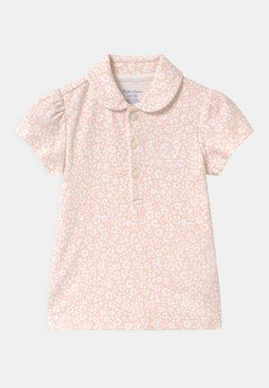 Polo shirt - pink/white