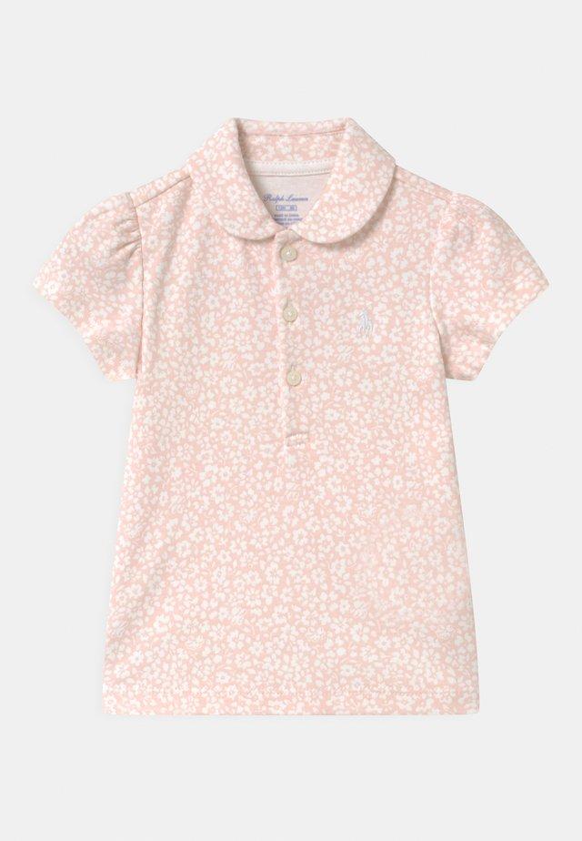 Poloshirt - pink/white