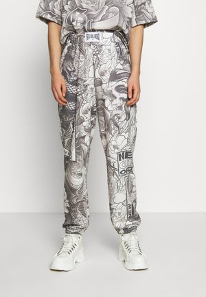 FLORAL TATOO PRINT  - Jogginghose - grey