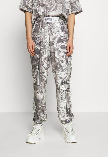FLORAL TATOO PRINT  - Pantalon de survêtement - grey