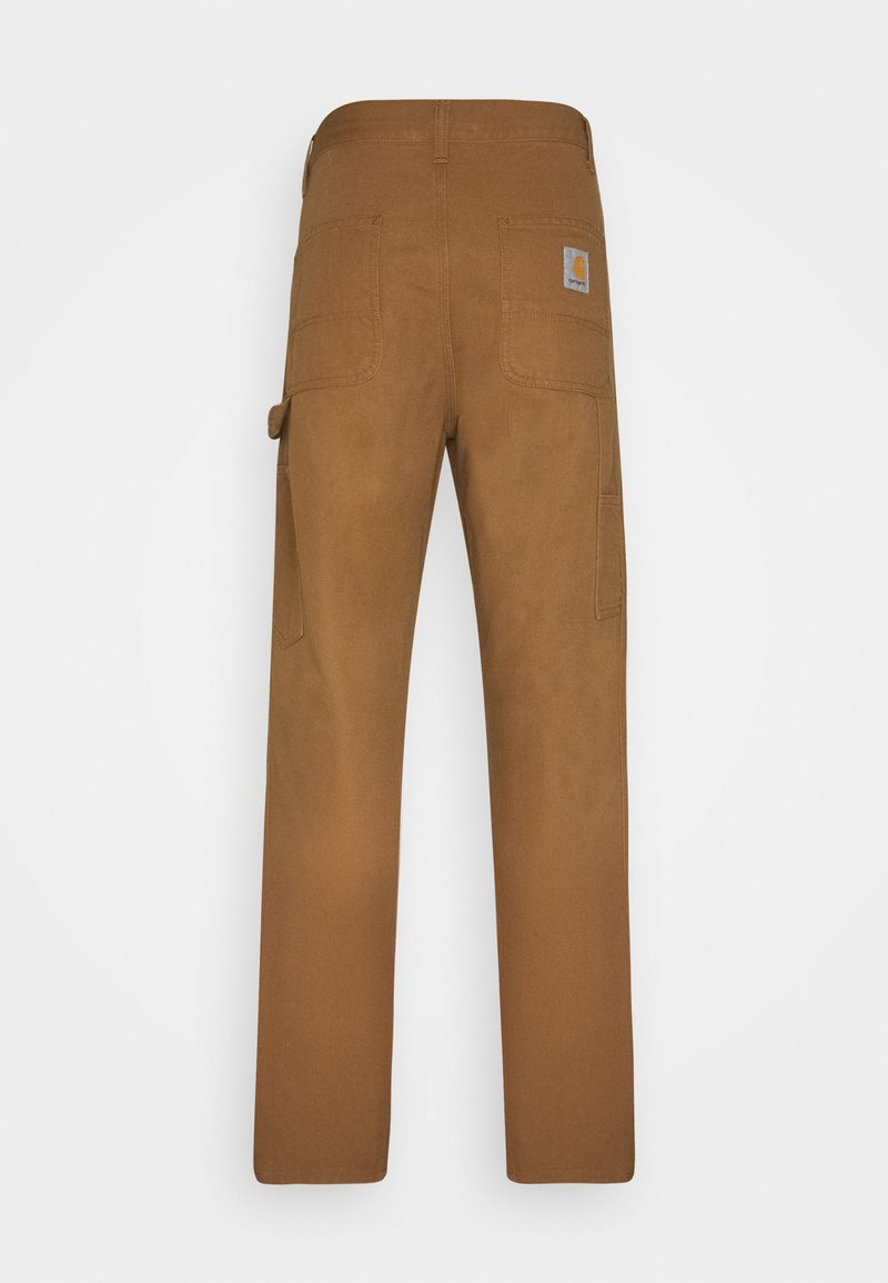 Carhartt WIP RUCK SINGLE KNEE PANT DEARBORN - Stoffhose - hamilton brown rinsed/braun tXlcXw