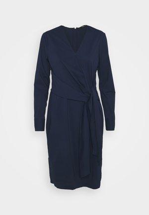 STELLA DRAPE DRESS - Shift dress - navy blue