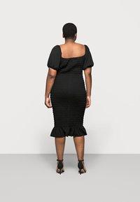 New Look Curves - SHIRRED PLAIN BARDOT MIDI - Day dress - black - 2