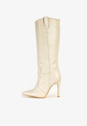 Laarzen met hoge hak - beige bge