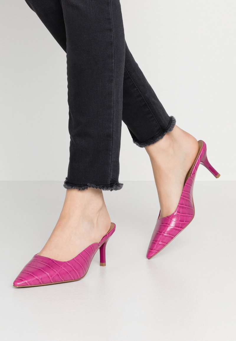 Who What Wear - JUNE - Mules à talons - magenta