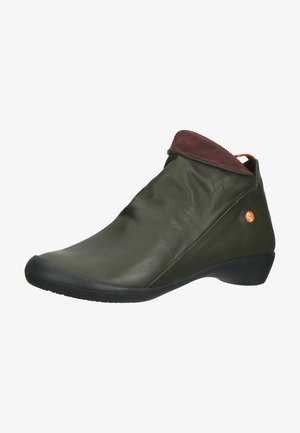 Ankle boots - army/wine