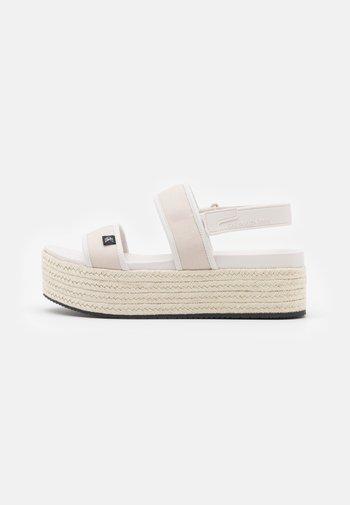 PLATFORM SLING - Platform sandals - white/sand