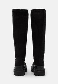 Bianco - BIADICY LONG BOOT - Platform boots - black - 3