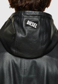 Diesel - CIRCLE - Giacca di pelle - black - 4