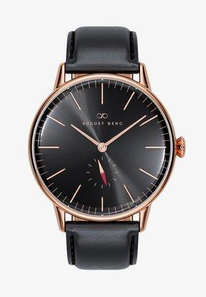 UHR SERENITY NOIR EYE BLACK LEATHER 40MM - Horloge - sunray black