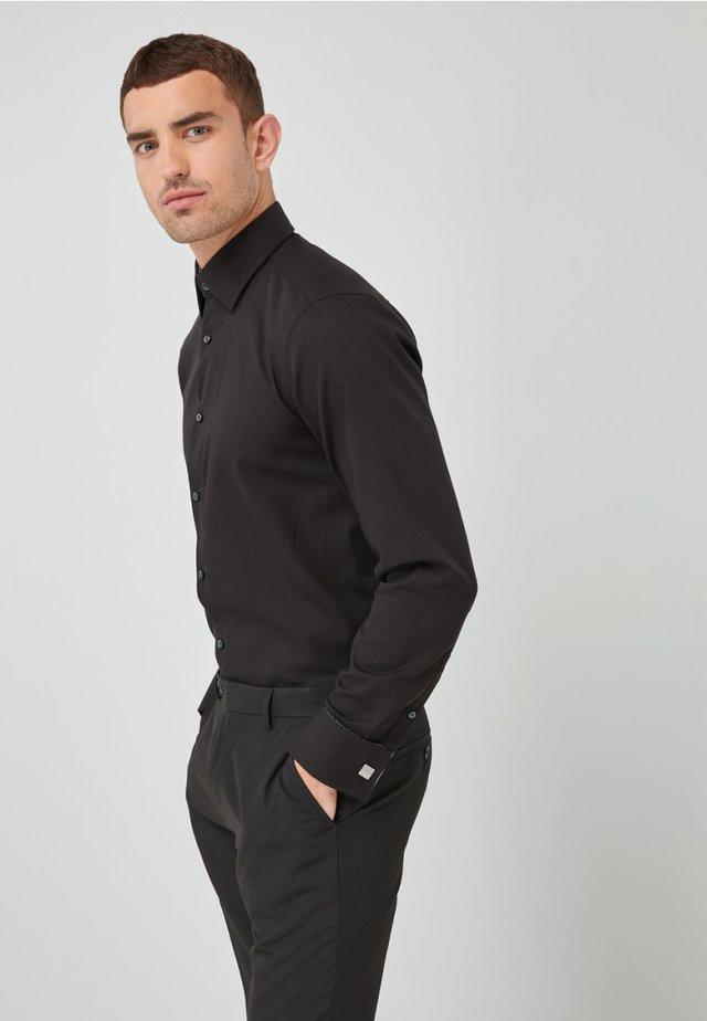 DOUBLE CUFF - Koszula biznesowa - black