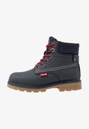 NEW FORREST MID - Lace-up ankle boots - navy