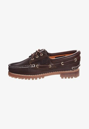 HERITAGE NOREEN 3 EYE - Boat shoes - brown smooth