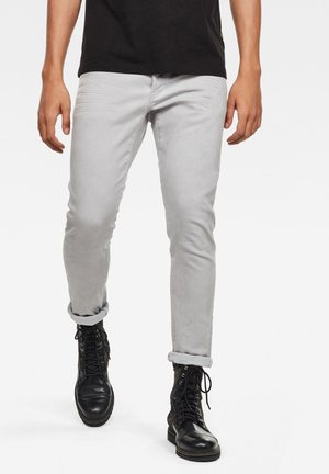 G-BLEID SLIM - Trousers - cool grey wave dyed