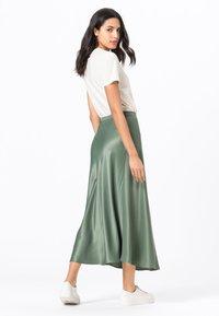 HALLHUBER - ROCK SWIRLING - A-line skirt - seegrün - 1