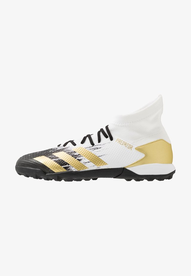 PREDATOR 20.3 FOOTBALL BOOTS TURF - Astro turf trainers - footwear white/gold/core black