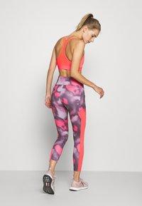 adidas Performance - AEROREADY TRAINING SPORTS - Leggings - pink/white - 2