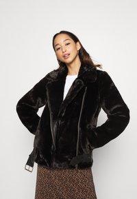 ONLY - ONLMARY BIKER - Winter jacket - black - 0