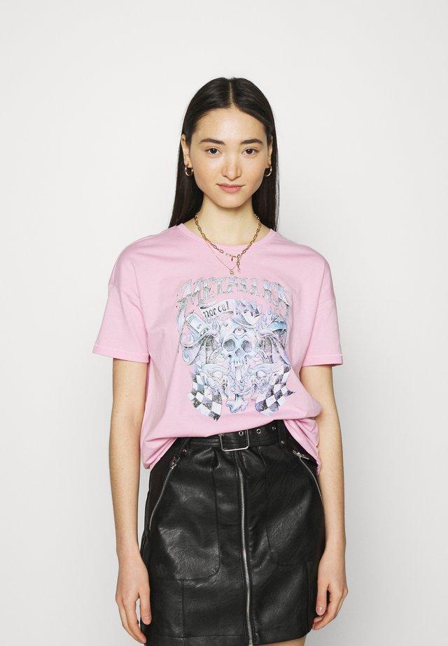 ONLMETALLICA LIFE BOX - Print T-shirt - lilac sachet