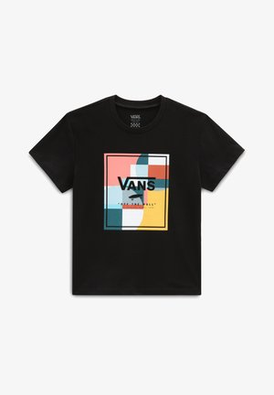GR GIRLS COLOUR BLOCK BOX SS - Camiseta estampada - black