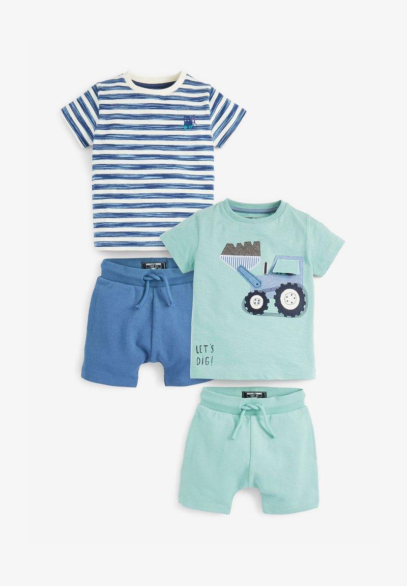 Next - 2 PACK SET - Shorts - green, light blue