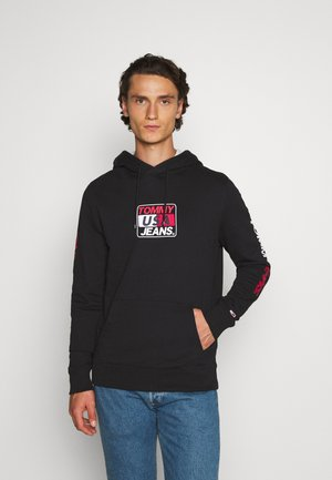 ESSENTIAL GRAPHIC HOODIE - Mikina s kapucí - black