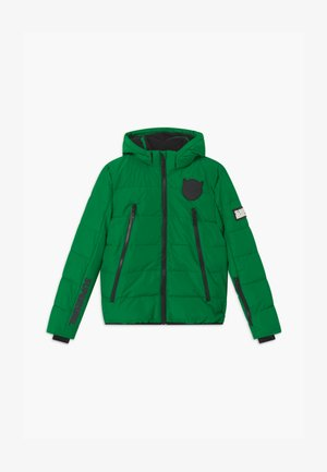 SUSTAINABLE BASIC SHINY BOYS  - Snowboard jacket - bottle green